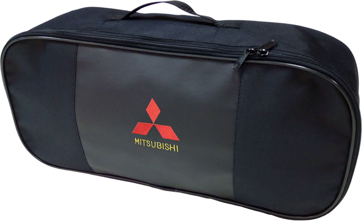Набор аварийный в сумке Auto Premium, с логотипом Mitsubishi + жилет светоотражающий, размер XL. 6745867458Набор аварийный в сумке Auto Premium оснащен базовыми элементами, которые необходимы каждому автолюбителю. Состав набора:- аптечка первой помощи автомобильная;- трос буксировочный 5т/пет/пакет;- огнетушитель порошковый ОП-2(з); - АВСЕ, с металлическим ЗПУ;- знак аварийной остановки; - сумка для набора техосмотра Премиум со вставкой из экокожи и вышивкой; - жилет сигнальный со светоотражающими полосами, размер XL.Размер сумки: 47 х 21 х 13 см.