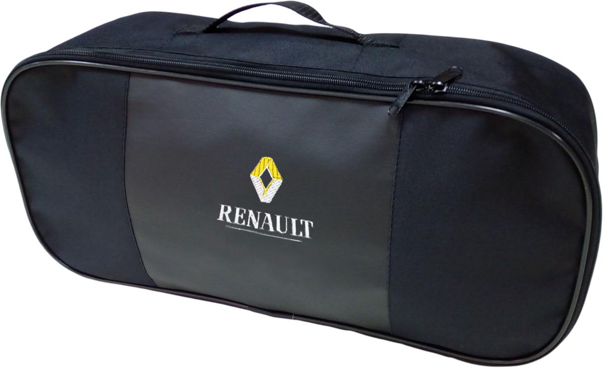 Набор аварийный в сумке Auto Premium, с логотипом Renault + жилет светоотражающий, размер XL. 6746467464Набор аварийный в сумке Auto Premium оснащен базовыми элементами, которые необходимы каждому автолюбителю. Состав набора:- аптечка первой помощи автомобильная;- трос буксировочный 5т/пет/пакет;- огнетушитель порошковый ОП-2(з); - АВСЕ, с металлическим ЗПУ;- знак аварийной остановки; - сумка для набора техосмотра Премиум со вставкой из экокожи и вышивкой; - жилет сигнальный со светоотражающими полосами, размер XL.Размер сумки: 47 х 21 х 13 см.