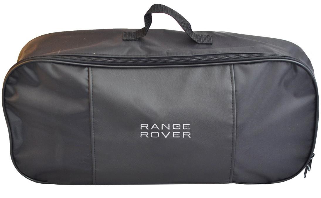 Набор аварийный в сумке Auto Premium, с логотипом Range Rover + жилет светоотражающий, размер XL. 6746767467Набор аварийный в сумке Auto Premium оснащен базовыми элементами, которые необходимы каждому автолюбителю. Состав набора:- аптечка первой помощи автомобильная;- трос буксировочный 5т/пет/пакет;- огнетушитель порошковый ОП-2(з); - АВСЕ, с металлическим ЗПУ;- знак аварийной остановки; - сумка для набора техосмотра Премиум со вставкой из экокожи и вышивкой; - жилет сигнальный со светоотражающими полосами, размер XL.Размер сумки: 47 х 21 х 13 см.