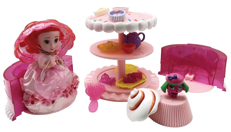 Emco Игровой набор Cupcake Surprise Чайная вечеринка с куклой Капкейк и питомцем цвет розовый