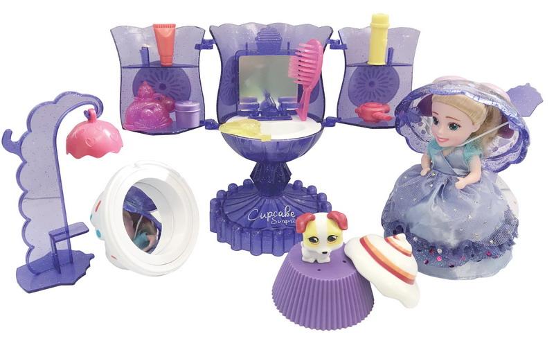 Emco Игровой набор Surprise Мороженое Туалетный столик с куклой Капкейк и питомцем цвет сиреневый emco мыльница emco polo 0730 001 00