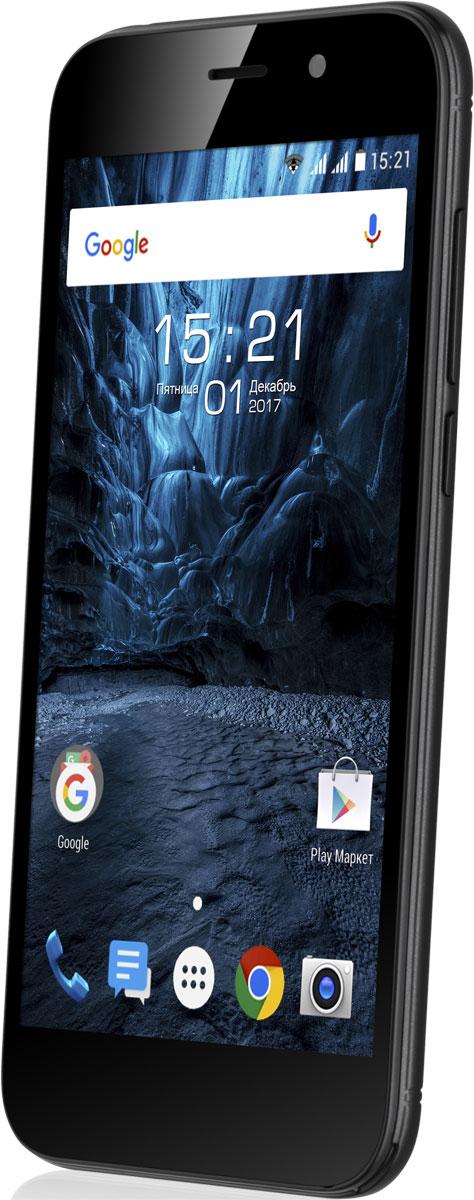 Fly Nimbus 17 FS527, Black10451Fly Nimbus 17 FS527 - это лаконичный дизайн, высокоскоростной 3G интернет, современная и функциональная ОС Android 7.Эргономичный корпус модели с грамотным соотношением сторон создают комфорт и удобство при ежедневном использовании смартфона. Модель оснащена компактным 5 TN дисплеем. Экран отличается хорошим качеством изображения, высокой чувствительностью и низким энергопотреблением, что положительно сказывается на автономной работе устройства. Выполнен из защищенного стекло Dragontrail.Fly Nimbus 17 обеспечит вас качественной связью и мгновенным доступом в интернет. Смартфон традиционно имеет два слота для микро SIM-карт, что позволит одновременно использовать различные тарифные планы для экономии средств, и работает в 3Gсетях, благодаря чему вы сможете загружать данные с высокой скоростью.Для каждого значимого момента у вас под рукой есть камера с разрешением 5 Мпикс. Фотографии получаются яркими и четкими даже в условиях недостаточной освещенности. Создавайте интересные и запоминающиеся видео в разрешении HD и делитесь ими в социальных сетях. А 0,3 Мпикс фронтальная камера послужит отличным помощником в общении по скайпу с родными и близкими или ведения онлайн трансляций.Производительный процессор под управлением современной ОС Android 7 совместно с 1 ГБ оперативной памяти делают работу смартфона слаженной и очень быстрой. Запросы обрабатываются мгновенно, что позволяет выполнять в два раза больше задач. Благодаря встроенной памяти 8 ГБ с возможностью её расширения до 32 ГБ с помощью карт microSDHC сохранить весь контент не составит труда.Литий-ионный аккумулятор ёмкостью 1900 мАч в тандеме с функциями Doze и App Standby сделают расход заряда батареи умным и продолжительным.Телефон сертифицирован EAC и имеет русифицированный интерфейс меню и Руководство пользователя.