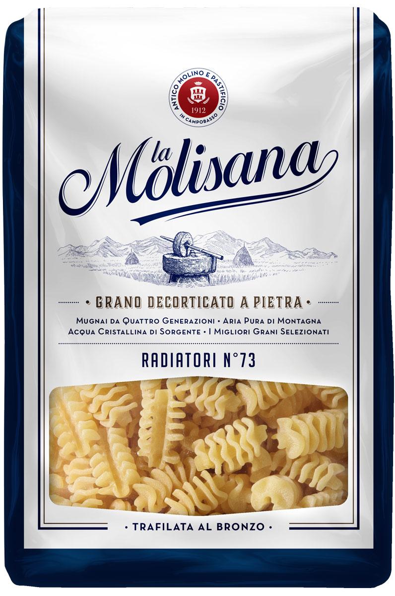 La Molisana Radiatori фигурные макаронные изделия, 500 г0190014Макаронные изделия La Molisana Radiatori сделаны из муки твердых сортов, содержащей чуть меньшее количество клейковины, чем обыкновенная мука. Она хорошо поглощает воду, макароны из нее при варке увеличиваются и не развариваются.Уважаемые клиенты! Обращаем ваше внимание на то, что упаковка может иметь несколько видов дизайна. Поставка осуществляется в зависимости от наличия на складе. Лайфхаки по варке круп и пасты. Статья OZON Гид