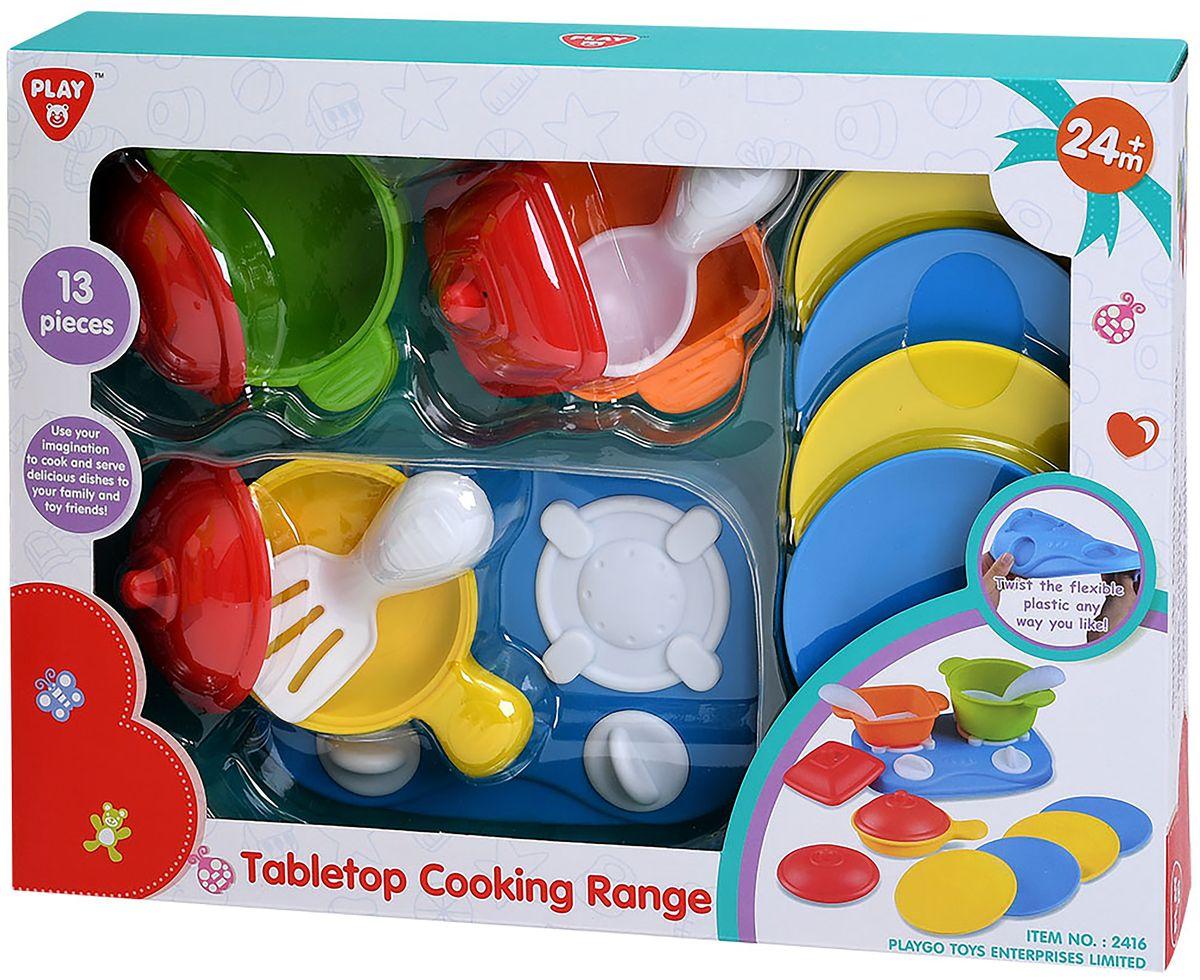 Playgo Игровой набор Плита с посудой 13 предметов