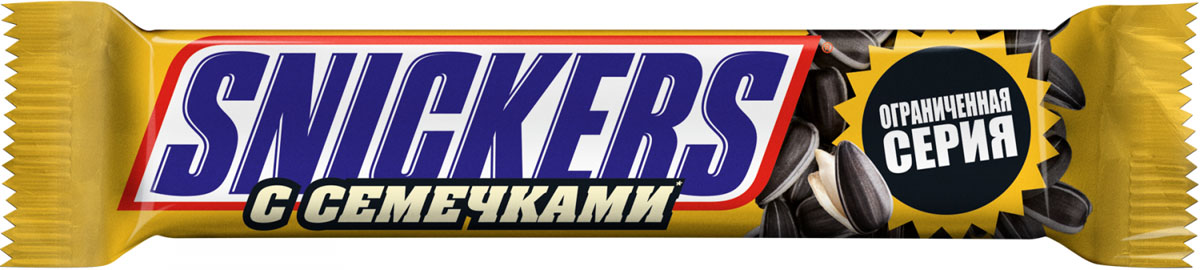 Snickers с семечками шоколадный батончик, 81 г шоколадный батончик marabou 50гр