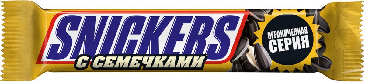 Snickers с семечками шоколадный батончик, 81 г шоколадный батончик twix 55г