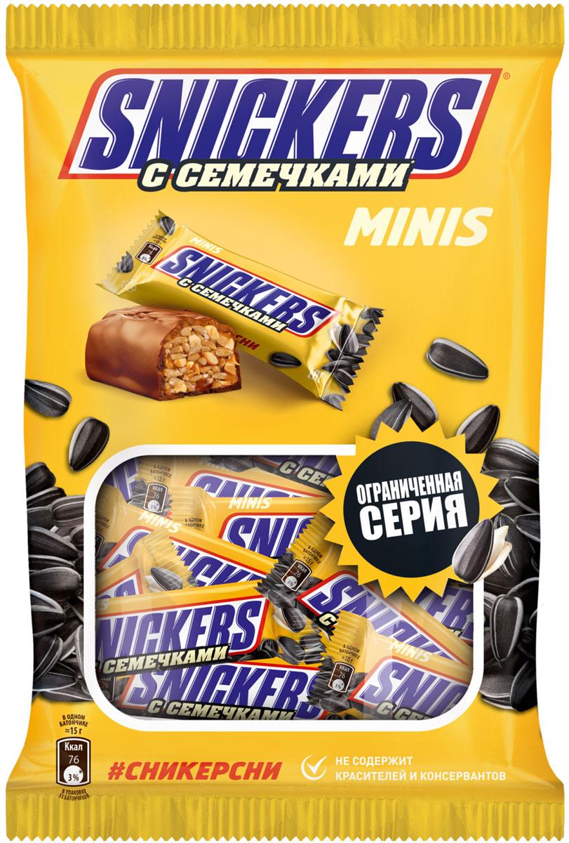Snickers Minis с семечками шоколадный батончик, 180 г minis ассорти подарочный набор 195 г