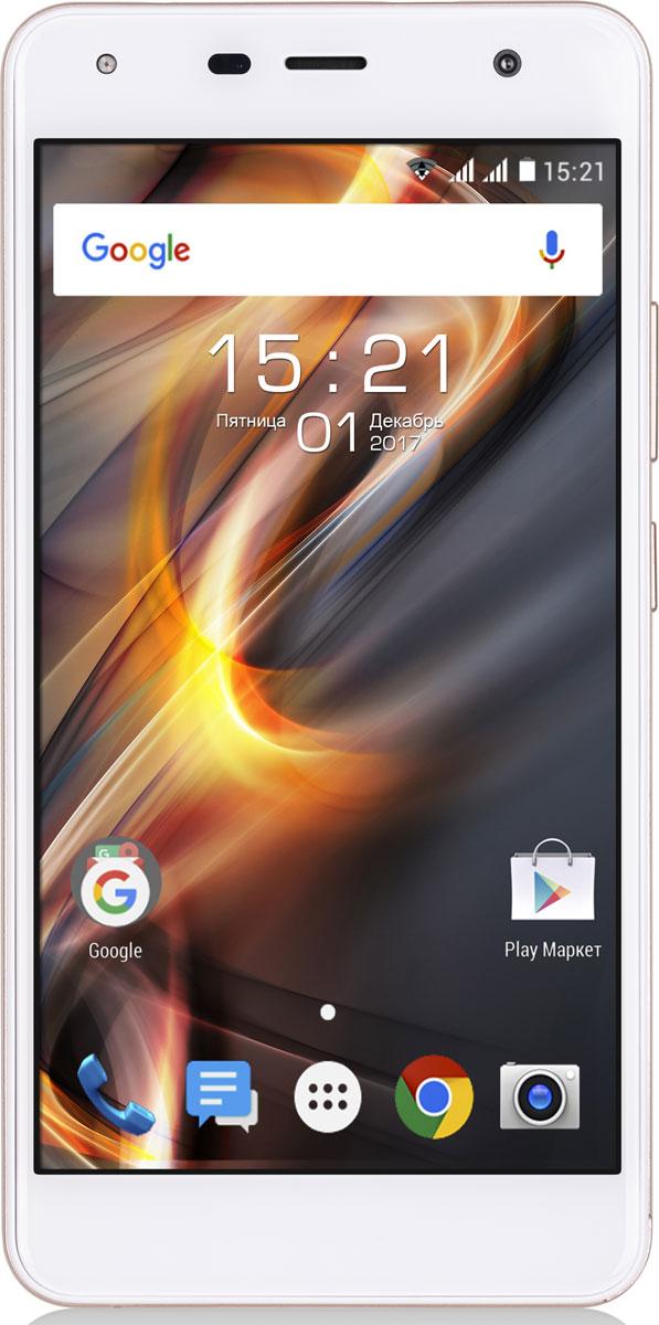 Fly Memory Plus FS528, Champagne10745Fly Memory Plus - это сочетание утонченного и лаконичного дизайна, увеличенного объёма оперативной памяти, высокоскоростного 4G LTE, 8 Мпикс камеры и высокой производительности.Увеличенный объём оперативной памяти - 2 ГБ - совместно с производительным четырехъядерным процессором SC9832 и актуальной версией OC Android 7.0 обеспечат плавную работу смартфона и мгновенную реакцию на все ваши запросы. Руководите процессом и выполняйте необходимые задачи с комфортом. Все самые любимые треки, документы, фильмы и фотографии всегда найдут место в Fly Memory Plus благодаря поддержке карт-памяти формата microSDHC объёмом до 32 ГБ.Изящный корпус со сбалансированными габаритами 142 x 71 x 8,9 мм и небольшим весом - 136 грамм - делают Fly Memory Plus стильным аксессуаром, удобным в использовании. Необычная текстура задней панели подарит приятные тактильные ощущения. 5-дюймовый экран смартфона откроет мир новых впечатлений. Просматривайте любимые кадры из путешествий, фильмы и рабочие документы на ярком IPS дисплее с HD разрешением. А скругленное по бокам 2.5D стекло придает устройству эстетически завершенный вид.Оставайтесь на связи, наслаждайтесь долгими разговорами, играйте в игры и просматривайте видеоролики дольше обычного с ёмкой батареей объёмом 2100 мАч. Поддержка двух микро SIM-карт расширит возможности общения и поможет сэкономить на связи. Оба слота способны работать в сети 4G, открывая доступ к высокоскоростному доступу в интернет. Обменивайтесь данными с помощью встроенных модулей Wi-Fi и Bluetooth 4.0.Телефон сертифицирован EAC и имеет русифицированный интерфейс меню и Руководство пользователя.
