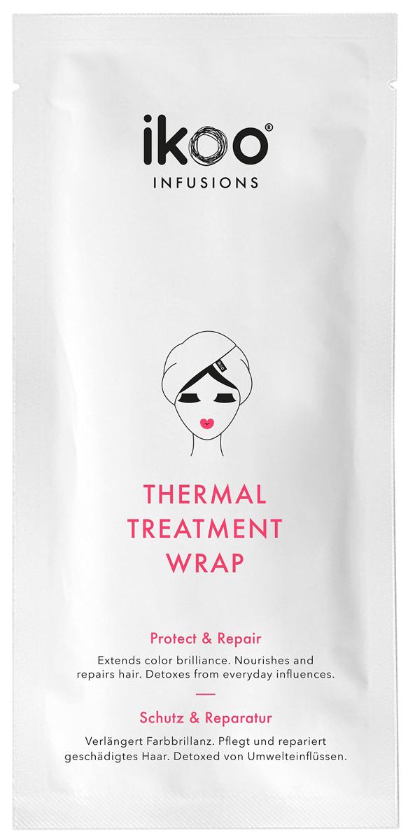 Ikoo Маска-шапочка для волос Thermal Treatment Wrap7240454000Новая маска для волос Thermal Treatment Wrap из линии ikoo infusions - это оптимальный уход за вашими волосами. Инновационная маска позволяет вашим волосам освободиться от негативного влияния окружающей среды - полноценный детокс, обеспечивает нежное питание и восстановление.Питательные вещества проникают в глубину структуры волос благодаря тепловому воздействию. Маску-шапочку для волос ikoo Thermal Treatment Wrap можно использовать для любого типа волос. Профессиональный и интенсивный уход дома, всего за 20 минут!Способ применения: наденьте маску-шапочку Thermal Treatment Wrap на чистые влажные волосы, закрепите с помощью специальной застежки. Немного помассируйте голову легкими движениями для лучшего проникновения состава в структуру волос. По истечению 15-25 минут ополосните волосы теплой водой. Просто и очень эффективно!