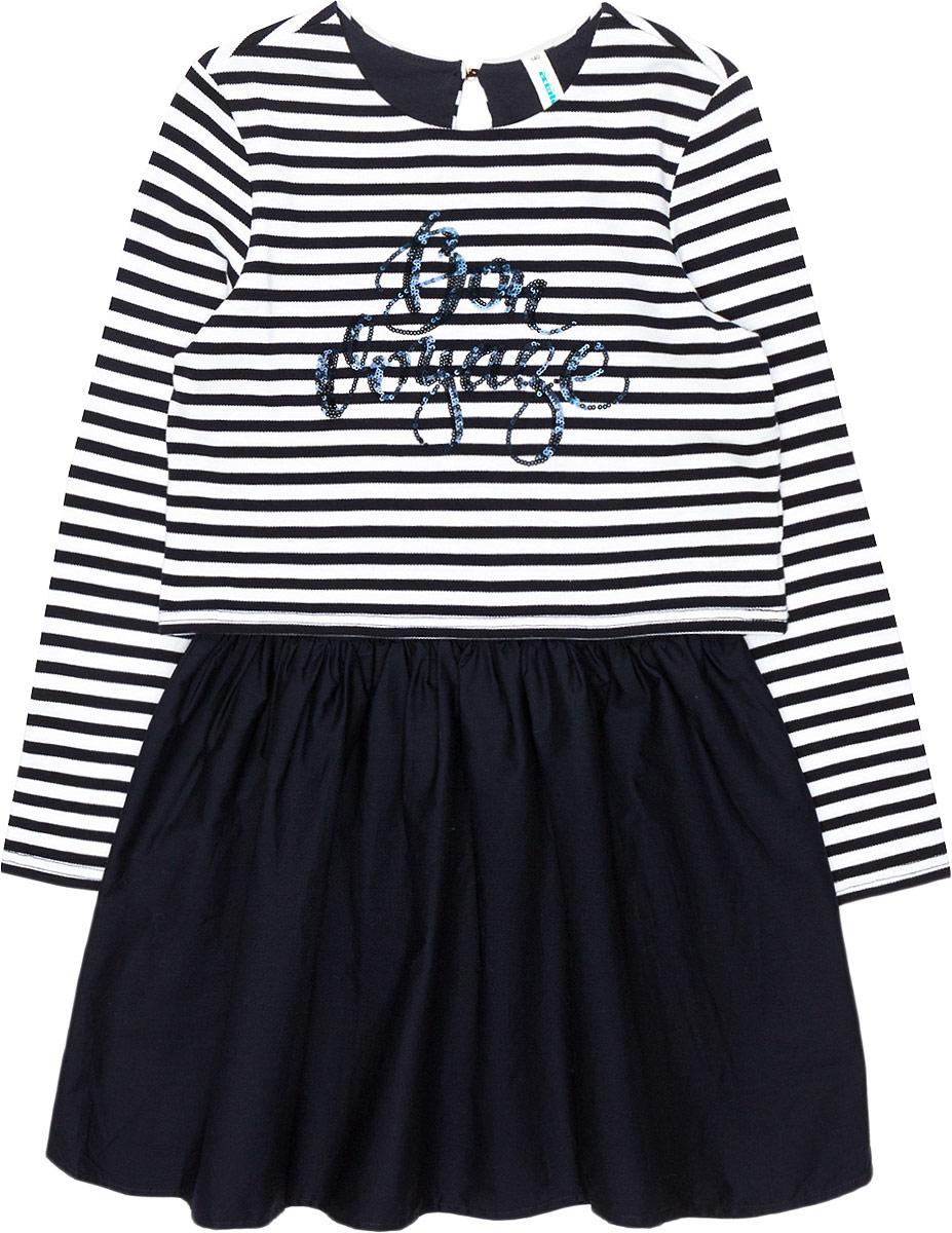 Платье для девочки Acoola Fieno, цвет: мультиколор. 20210200210_4400. Размер 164 джемперы acoola джемпер для девочек в полоску из люрекса цвет ассорти размер 158 20210100174