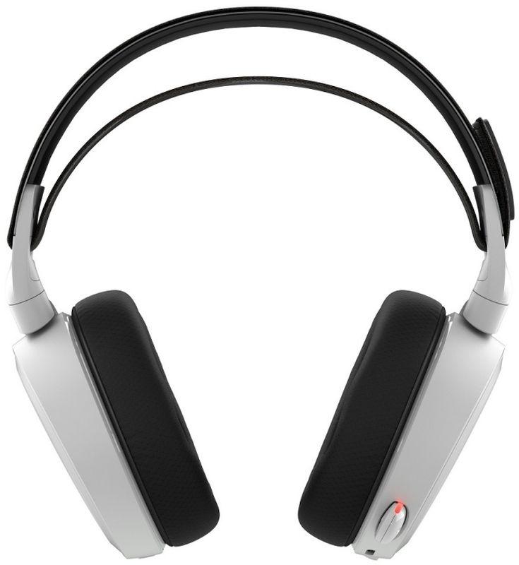 Steelseries Arctis 7, White игровые наушники61464Компания SteelSeries снова не разочаровала. Ее очередная новинка – геймерские наушники SteelSeries Arctis 7, впечатляет воображение своимиакустическими возможностями. До них никто ничего подобного не делал, и в этом заключается основное преимущество данного устройства. Главное достоинство SteelSeries Arctis 7 – это семиканальное звучание. Технология объемного звука здесь была полностью переработана. ТеперьDolby Surround не зависит от специфики источника акустического сигнала. Гарнитура оснащена 40-миллиметровыми динамиками на неодимовыхмагнитах надлежащего качества.Передача звука поистине завораживает. Ощущение трехмерности присутствует постоянно, стойкий эффект гарантируется безупречнымвоспроизведением низких, средних и высоких частот. Динамические излучатели SteelSeries Arctis 7 функционируют в рабочем диапазоне от 20 до20 000 Гц – это с головой достаточно, чтобы погрузиться в невероятный мир кристально чистого и насыщенного аудио.Беспроводные наушники SteelSeries Arctis 7 Black обеспечивают надежную синхронизацию с персональным компьютером или любым другимподходящим оборудованием, без разрыва связи. Дальность приема передатчика составляет 12 метров. Полного заряда аккумуляторной батареибез проблем хватает примерно на 15 часов активной эксплуатации.Само собой, что наушники SteelSeries Arctis 7 обладают стильным дизайном, как и полагается продукту со столь громким именем. Заказать ихрекомендуется не только опытным или начинающим киберспортсменам, но и обычным пользователям, ценящих роскошную акустику.