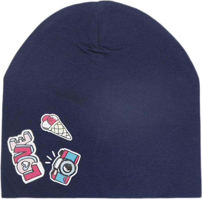 Шапка для девочки Acoola Aster, цвет: темно-синий. 20236400049_600. Размер XS (50)20236400049_600Детская шапка Acoola станет стильным дополнением к детскому гардеробу. Она выполнена из натурального хлопка, приятная на ощупь, идеально прилегает к голове.В такой шапке ребенок будет чувствовать себя уютно, комфортно и всегда будет в центре внимания!