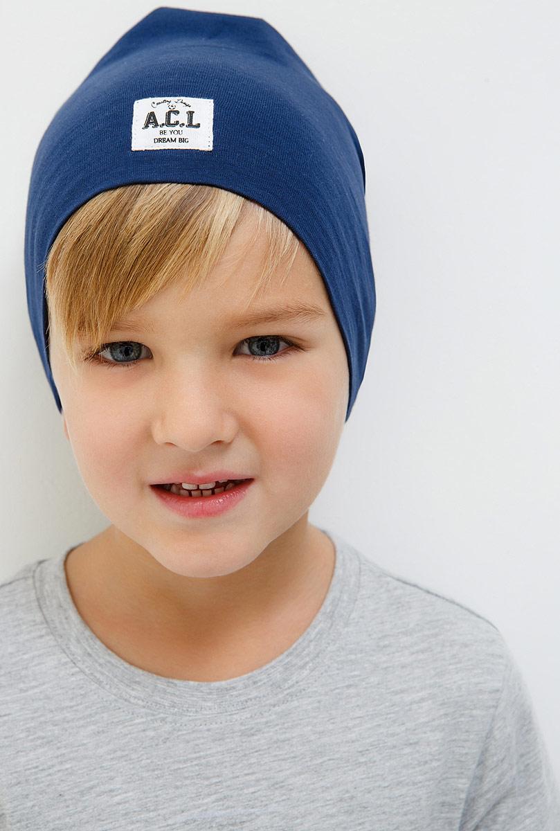 Шапка для мальчика Acoola Gladiolus, цвет: темно-синий. 20116400025_600. Размер M (53)20116400025_600Детская шапка Acoola станет стильным дополнением к детскому гардеробу. Она выполнена из натурального хлопка, приятная на ощупь, идеально прилегает к голове.В такой шапке ребенок будет чувствовать себя уютно, комфортно и всегда будет в центре внимания!