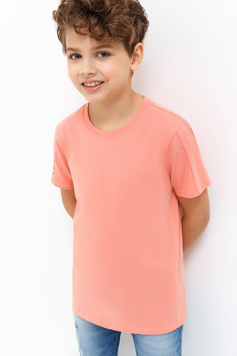 Футболка для мальчика Acoola Beckham, цвет: светло-коралловый. 20110110100_3000. Размер 15220110110100_3000Детская футболка Acoola станет стильным дополнением к детскому гардеробу. Она выполнена из натурального хлопка, приятная на ощупь. Модель с круглым вырезом горловины и короткими рукавами.