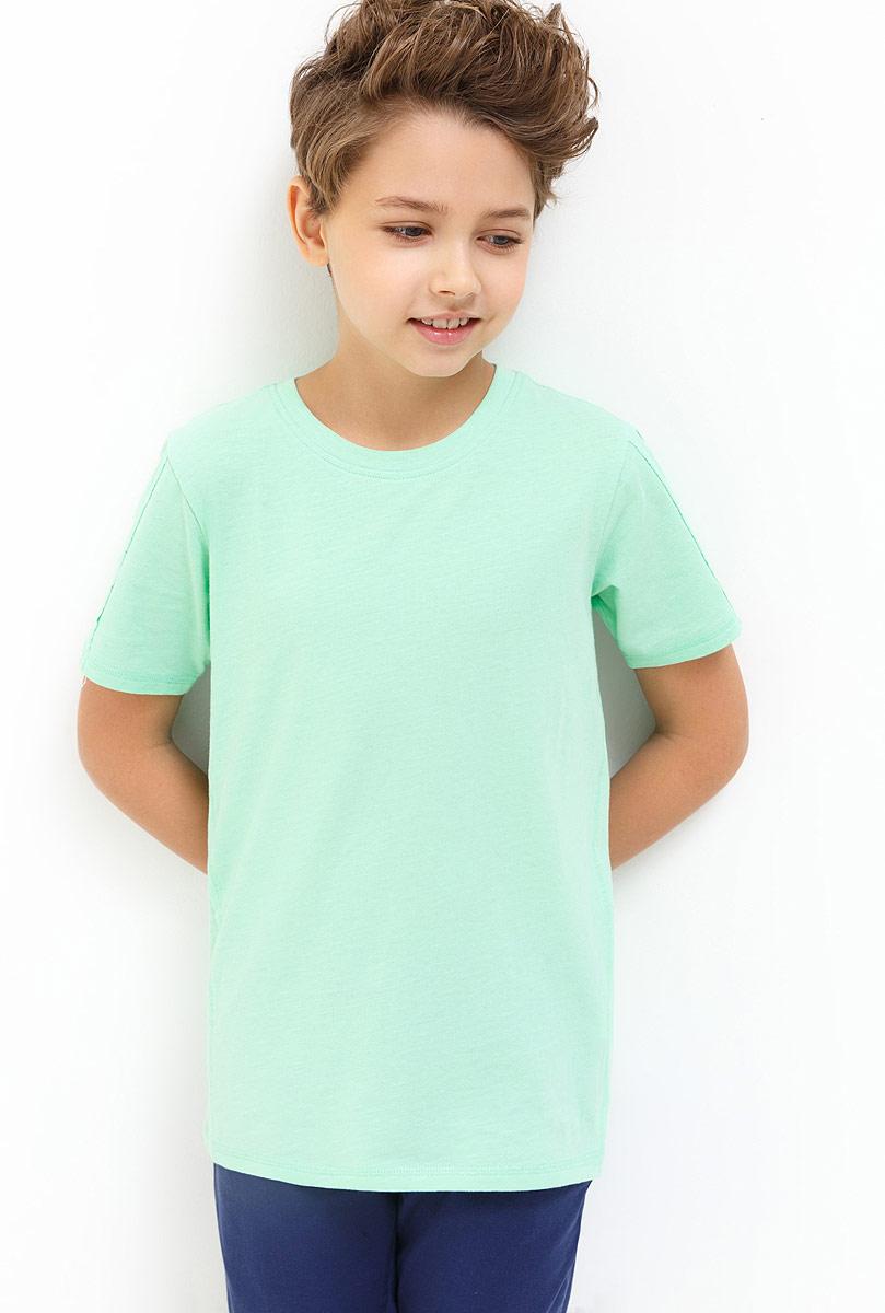 Футболка для мальчика Acoola Beckham, цвет: светло-зеленый. 20110110100_2200. Размер 15220110110100_2200Детская футболка Acoola станет стильным дополнением к детскому гардеробу. Модель выполнена из натурального хлопка, приятная на ощупь. Модель с круглым вырезом горловины и короткими рукавами.