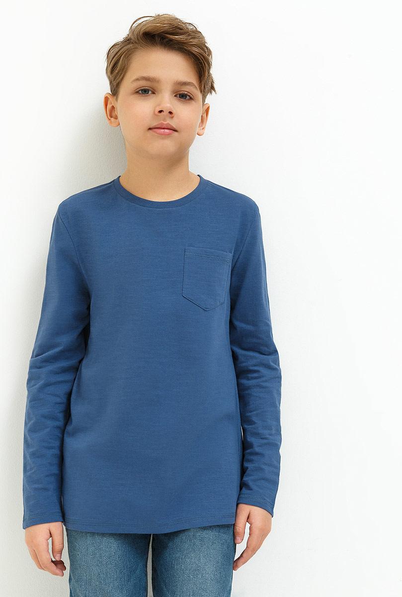 Джемпер для мальчика Acoola Otter, цвет: синий. 20110110082_500. Размер 14620110110082_500Джемпер для мальчика, выполненный из натурального хлопка станет отличным дополнением к детскому гардеробу. Модель с длинными рукавами и круглым вырезом горловины дополнена нагрудным карманом.