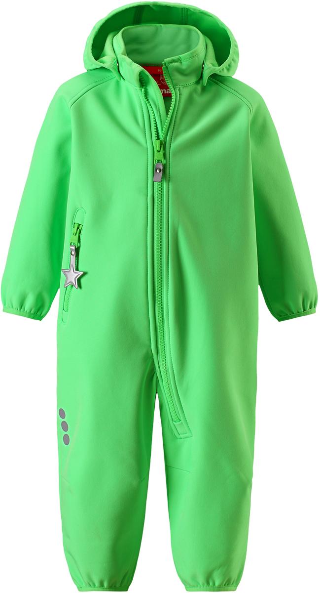 Комбинезон детский Reima, цвет: зеленый. 5102858460. Размер 98 комбинезон флисовый детский reima tahti цвет желтый 5163202390 размер 86