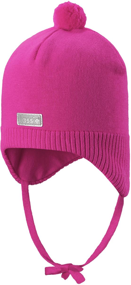 Шапка детская Lassie, цвет: розовый. 718738468A. Размер 4718738468AСтильная шапка для малышей Lassie с помпоном - идеально подойдет как для холодной осени, так и для зимы. Модель сочетает в себе простоту формы и комфорт. Ветронепроницаемые вставки в области ушей помогут защитить ушки от морозного ветра во время прогулок на свежем воздухе. Яркий помпон и светоотражающая эмблема Lassie завершают образ.
