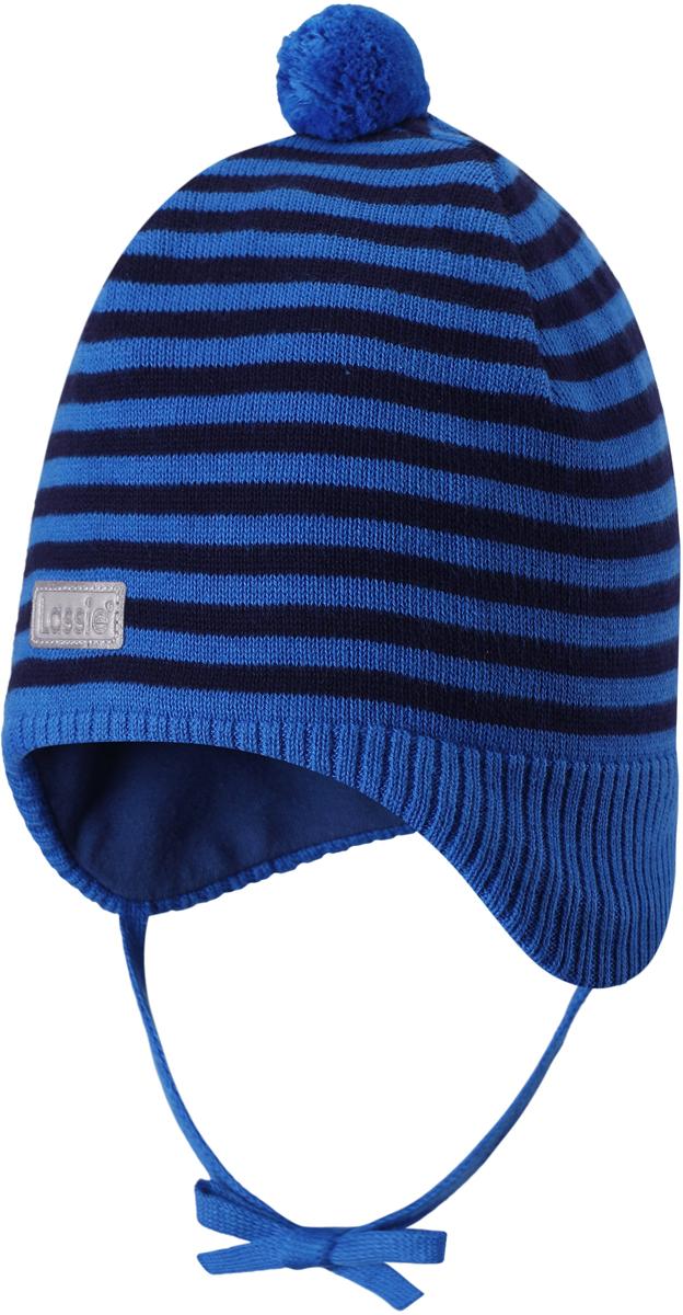 Шапка детская Lassie, цвет: синий. 7187386610. Размер 47187386610Стильная шапка для малышей Lassie с помпоном - идеально подойдет как для холодной осени, так и для зимы. Модель сочетает в себе простоту формы и комфорт. Ветронепроницаемые вставки в области ушей помогут защитить ушки от морозного ветра во время прогулок на свежем воздухе. Яркий помпон и светоотражающая эмблема Lassie завершают образ.