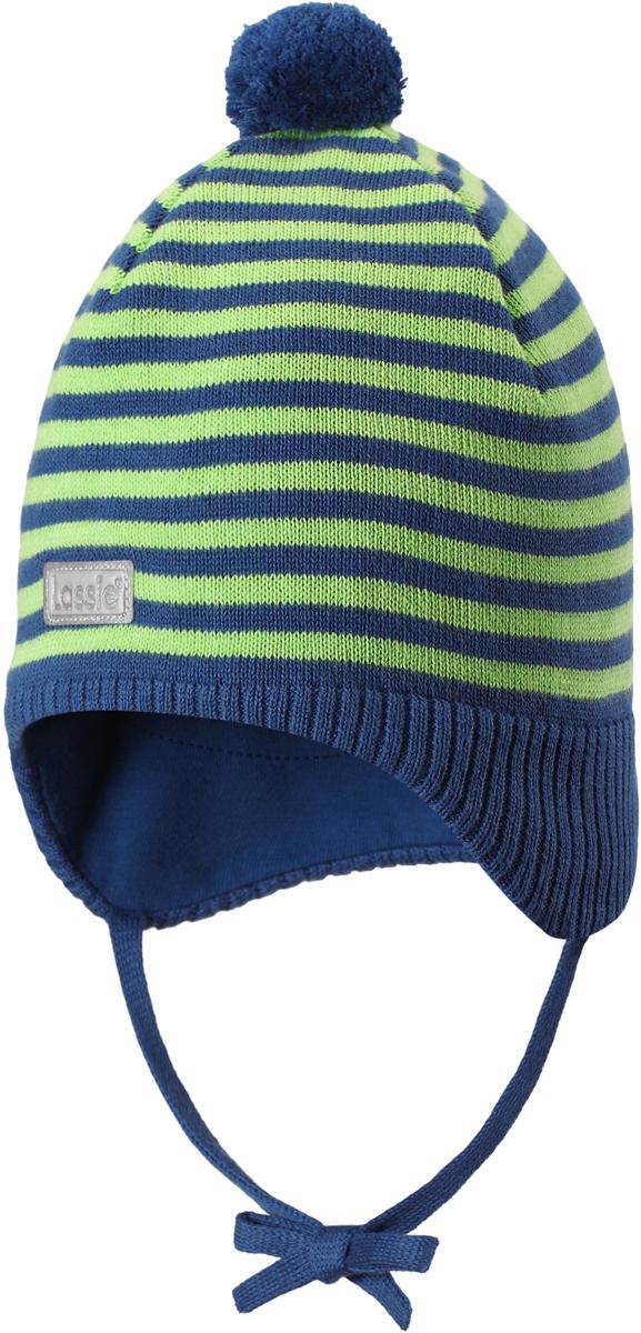 Шапка детская Lassie, цвет: синий. 7187386910. Размер 47187386910Стильная шапка для малышей Lassie с помпоном - идеально подойдет как для холодной осени, так и для зимы. Модель сочетает в себе простоту формы и комфорт. Ветронепроницаемые вставки в области ушей помогут защитить ушки от морозного ветра во время прогулок на свежем воздухе. Яркий помпон и светоотражающая эмблема Lassie завершают образ.