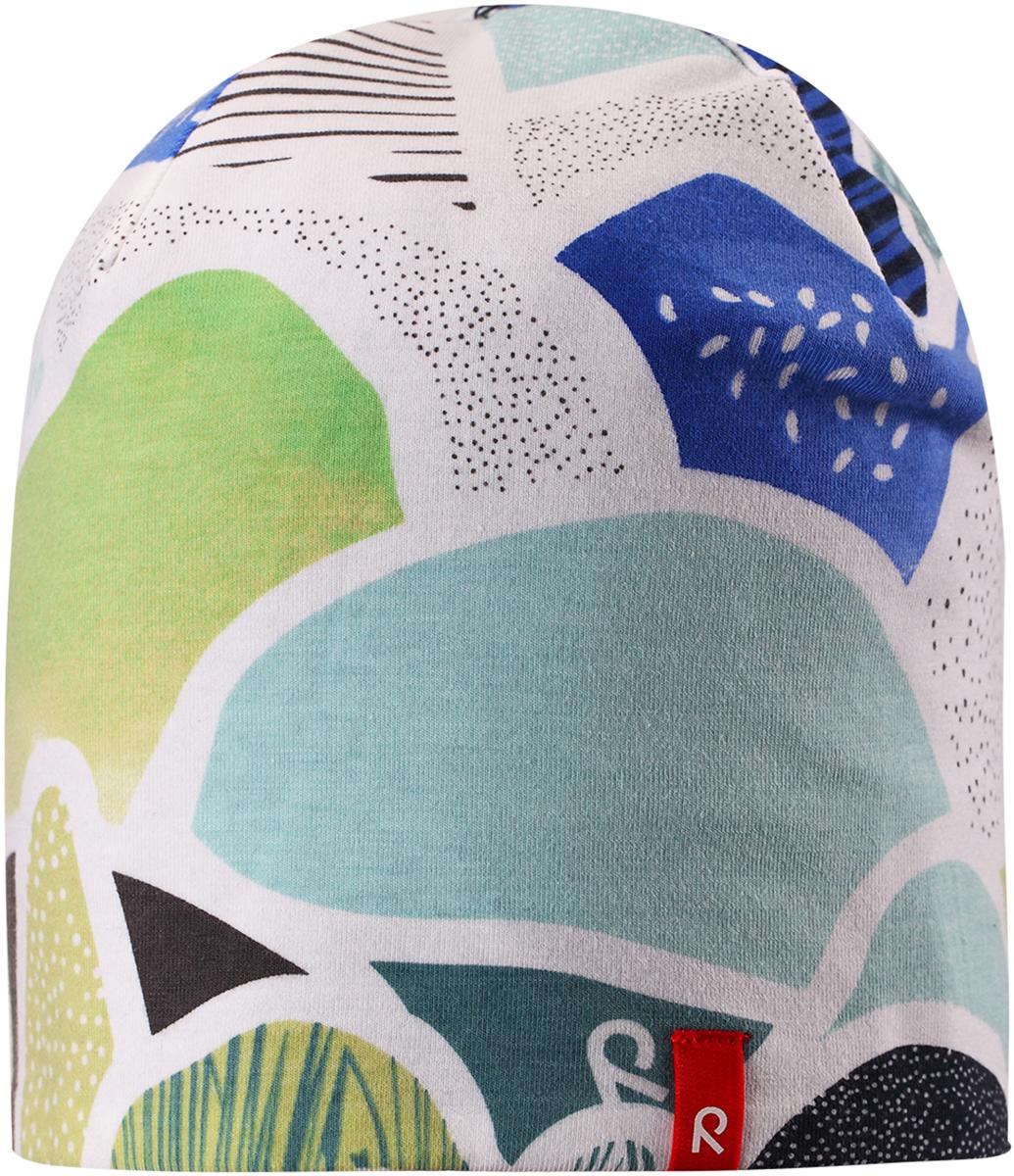 Шапка детская Reima, цвет: белый. 5285838711. Размер 525285838711Легкая двусторонняя шапка от Reima изготовлена из хлопка с добавлением полиэстера и эластана. Озорная двухсторонняя шапка меняет цвет в одно мгновение!