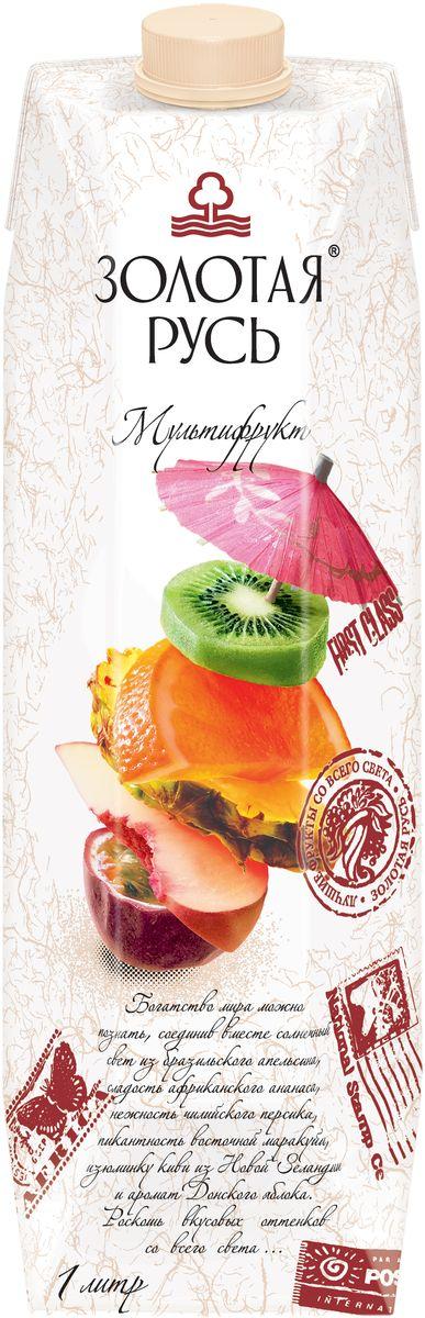 Золотая Русь Сок мультифруктовый с мякотью восстановленный, 1 лСок премиального качества. Для производства продукта используются отборные фрукты.