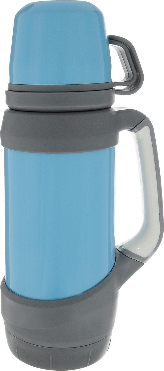 Термос Indiana Classic, с двумя кружками, цвет: голубой, серый, 1 л320400025_голубой, серыйТермос Indiana Classic, с двумя кружками, цвет: голубой, серый, 1 л