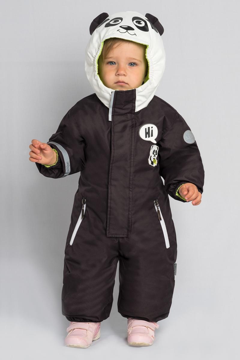 Комбинезон детский Boom!, цвет: черный. 80049_BOU. Размер 74