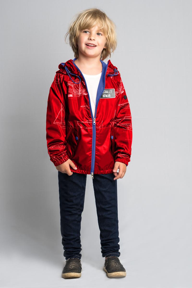 Куртка для мальчика Boom!, цвет: красный. 80011_BOB. Размер 14680011_BOB