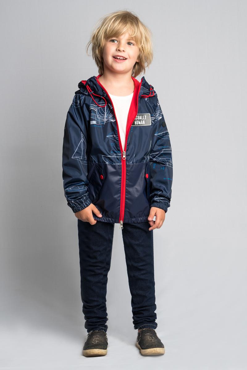 Куртка для мальчика Boom!, цвет: темно-синий. 80011_BOB. Размер 11080011_BOB