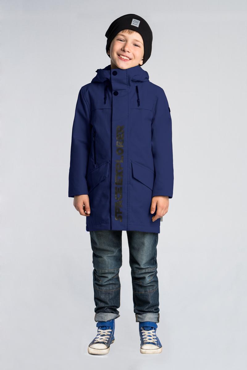 Куртка для мальчика Boom!, цвет: темно-синий. 80013_BOB. Размер 14080013_BOB
