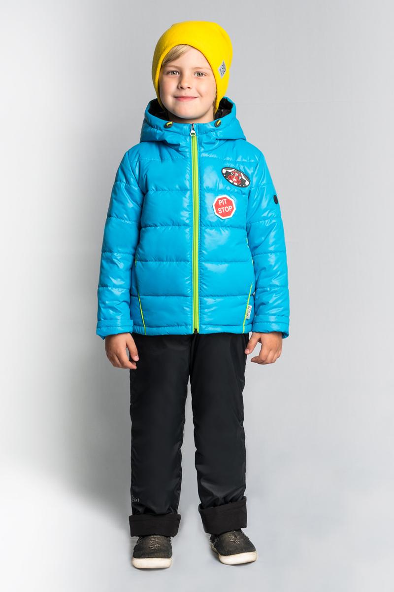 Комплект верхней одежды для мальчика Boom!, цвет: голубой. 80014_BOB. Размер 11080014_BOBКомплект Boom! для мальчика на межсезонье выполнен из высококачественного материала. Материал с водоотталкивающей пропиткой. Манженты-отвороты на курточке и брючках помогут комплекту прослужить не один сезон. Куртка с капюшоном застегивается на застежку-молнию.
