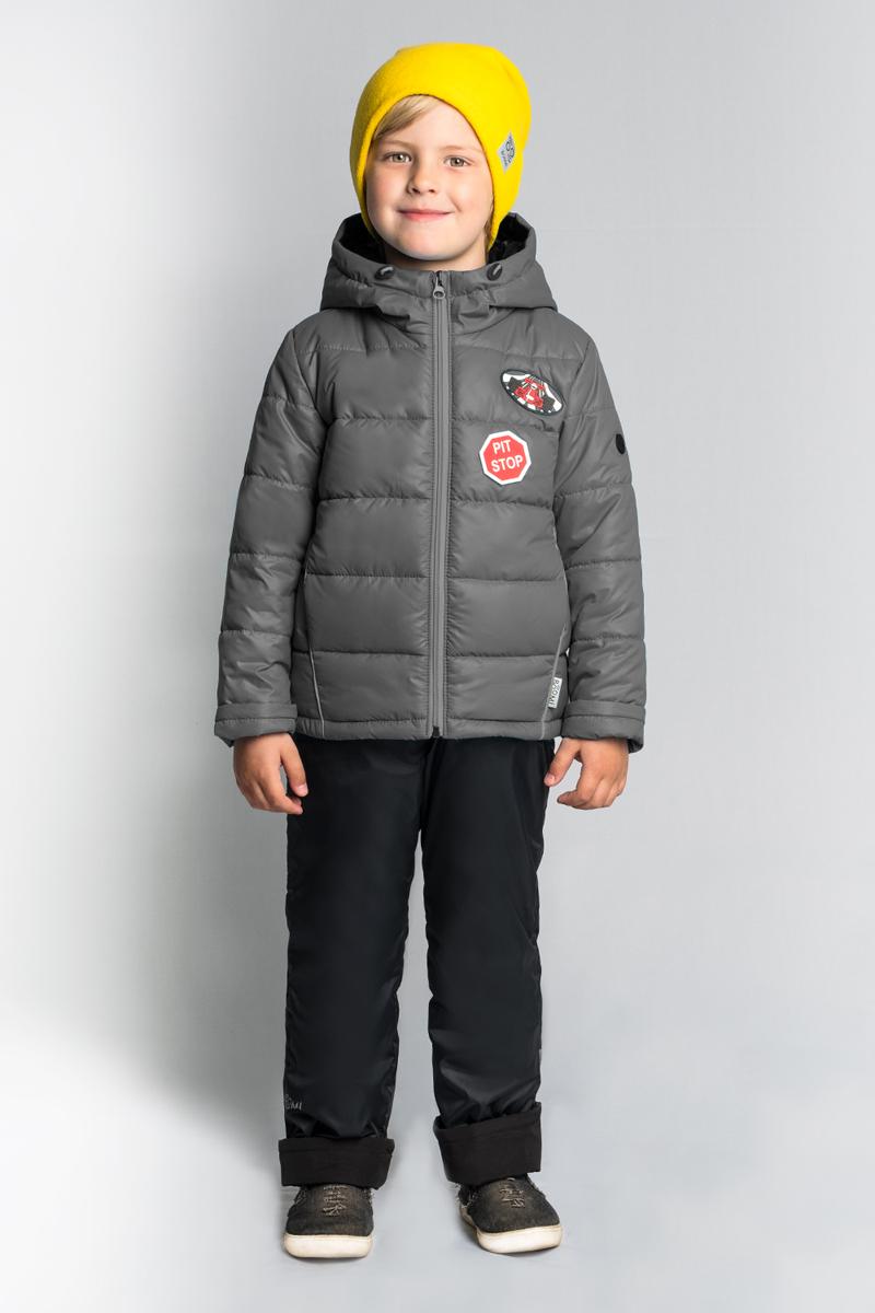 Комплект верхней одежды для мальчика Boom!, цвет: серый. 80014_BOB. Размер 11680014_BOB