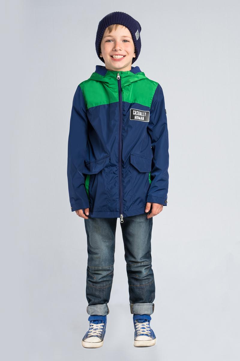 Куртка для мальчика Boom!, цвет: темно-синий. 80018_BOB. Размер 13480018_BOB