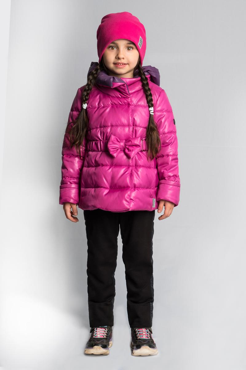 Комплект верхней одежды для девочки Boom!, цвет: розовый. 80025_BOG. Размер 11080025_BOGТёплый комплект Boom! для малышек выполнен из высококачественных материалов. Приталенная курточка с бантом на поясе и зауженные брюки с подтяжками - идеально для маленьких модниц.
