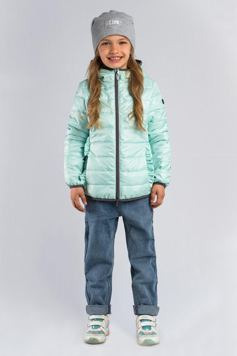 Куртка для девочки Boom!, цвет: зеленый. 80028_BOG. Размер 98