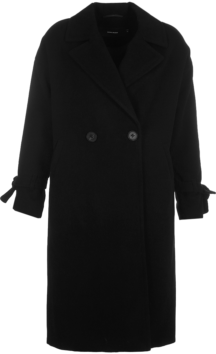 Пальто женское Vero Moda, цвет: черный. 10188866_Black. Размер M (44) футболка vero moda цвет черный