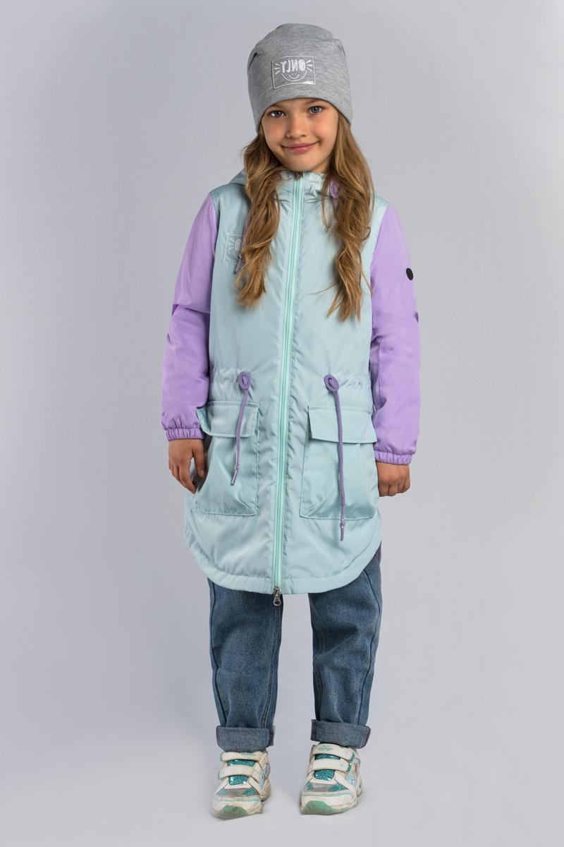 Куртка для девочки Boom!, цвет: зеленый. 80029_BOG. Размер 170 woolrich черная парка с накладными карманами