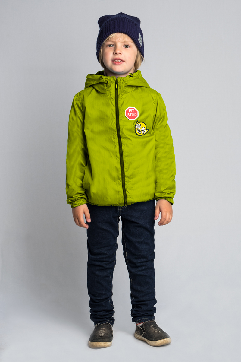 Куртка для мальчика Boom!, цвет: салатовый. 80034_BOB. Размер 15280034_BOBЯркая и легкая куртка для мальчика от Boom! на хлопковой подкладке - для летних прогулок. Модель с длинными рукавами и капюшоном застегивается на молнию. По бокам дополнена карманами.
