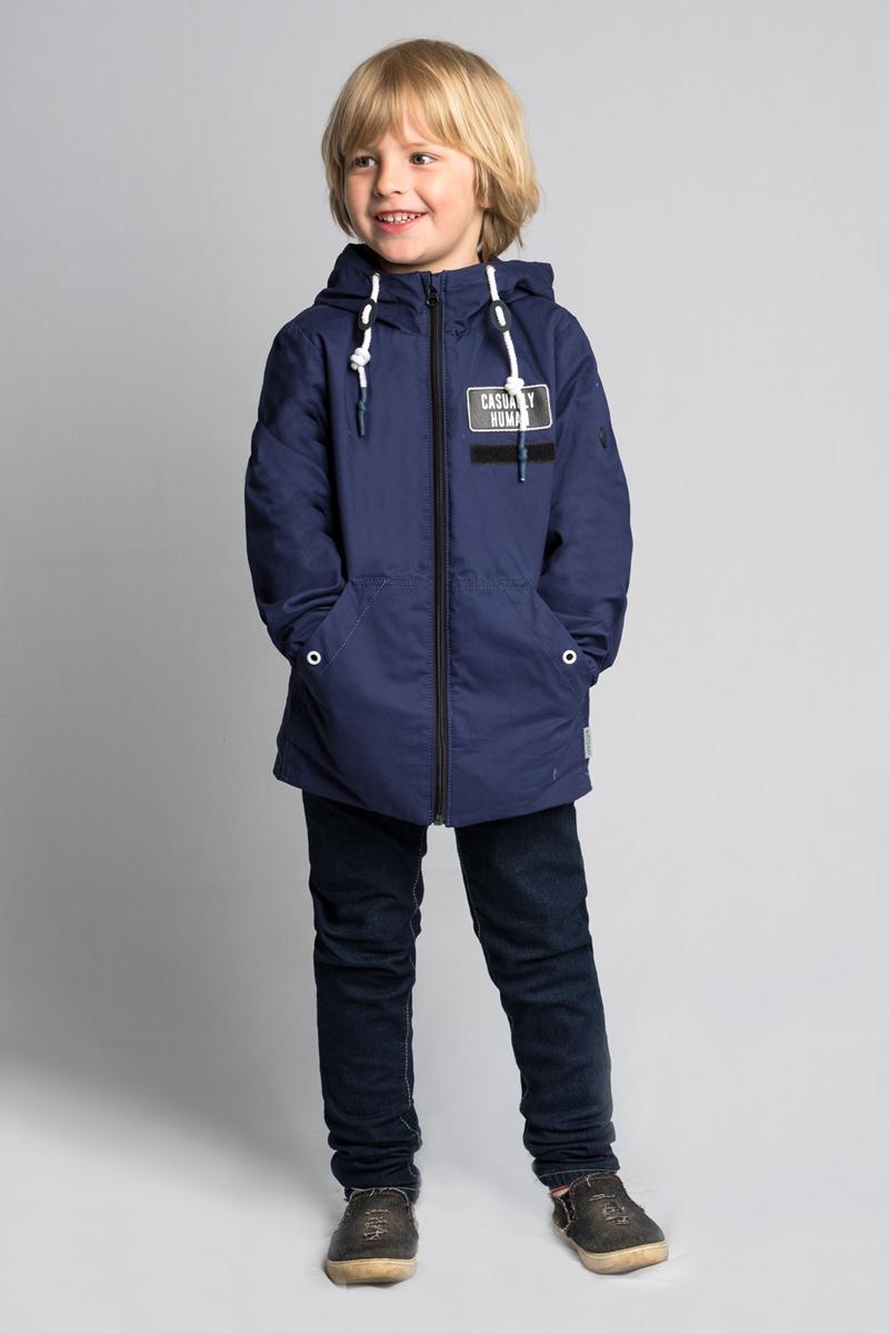 Куртка для мальчика Boom!, цвет: темно-синий. 80042_BOB. Размер 14080042_BOBСтильная куртка для мальчика от Boom! на флисовой подкладке выполнена из натурального хлопка. Идеальна для прогулок в межсезонье или прохладными летними вечерами. Модель с длинными рукавами и капюшоном застегивается на молнию. По бокам дополнена карманами.