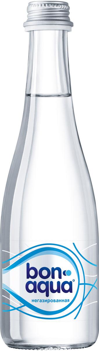 BonAqua Вода чистая питьевая негазированная, 0,33 л