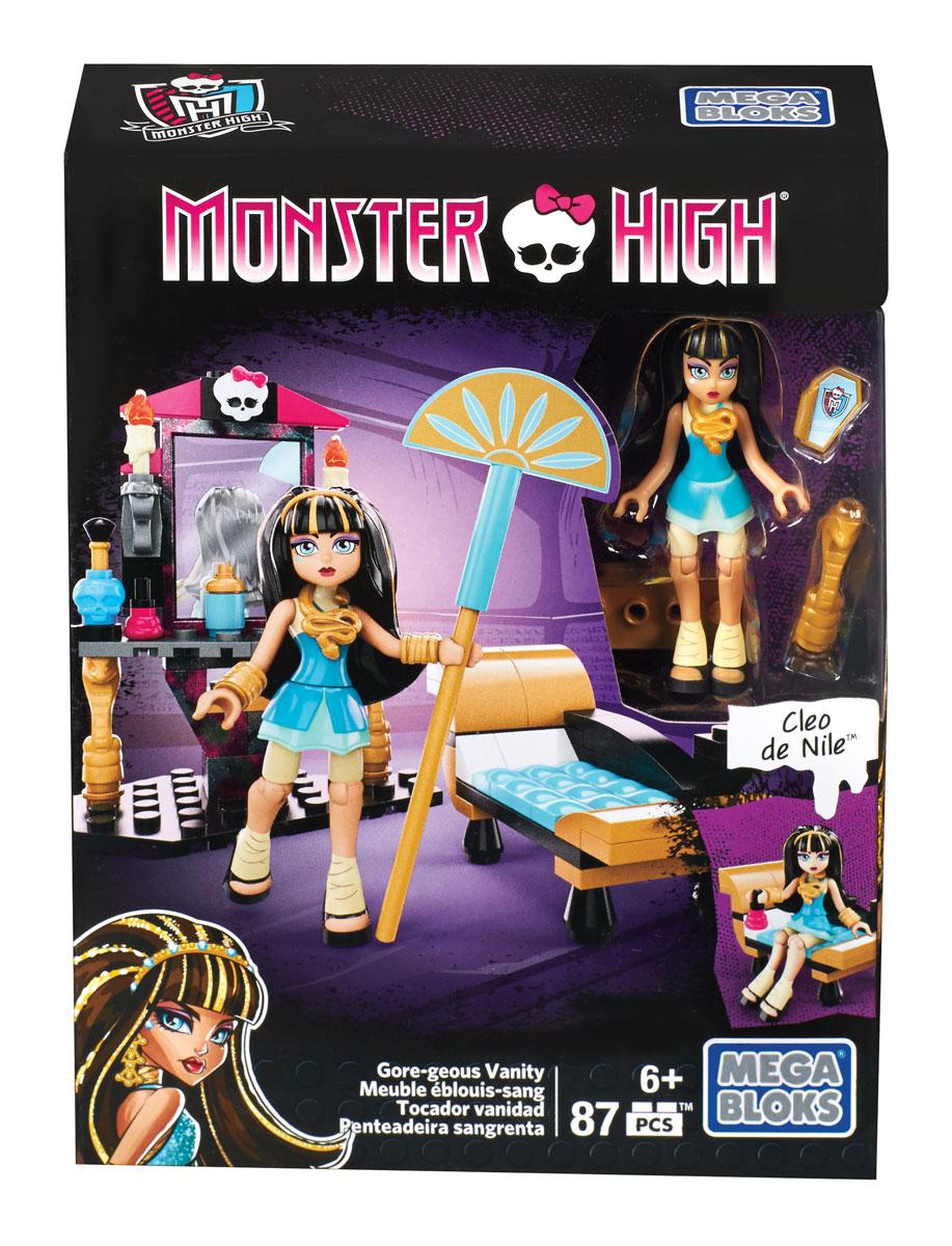 Mega Bloks Monster High Конструктор Туалетный столик Клео де Нил mega bloks monster high персонажи монстры скелита калаверас