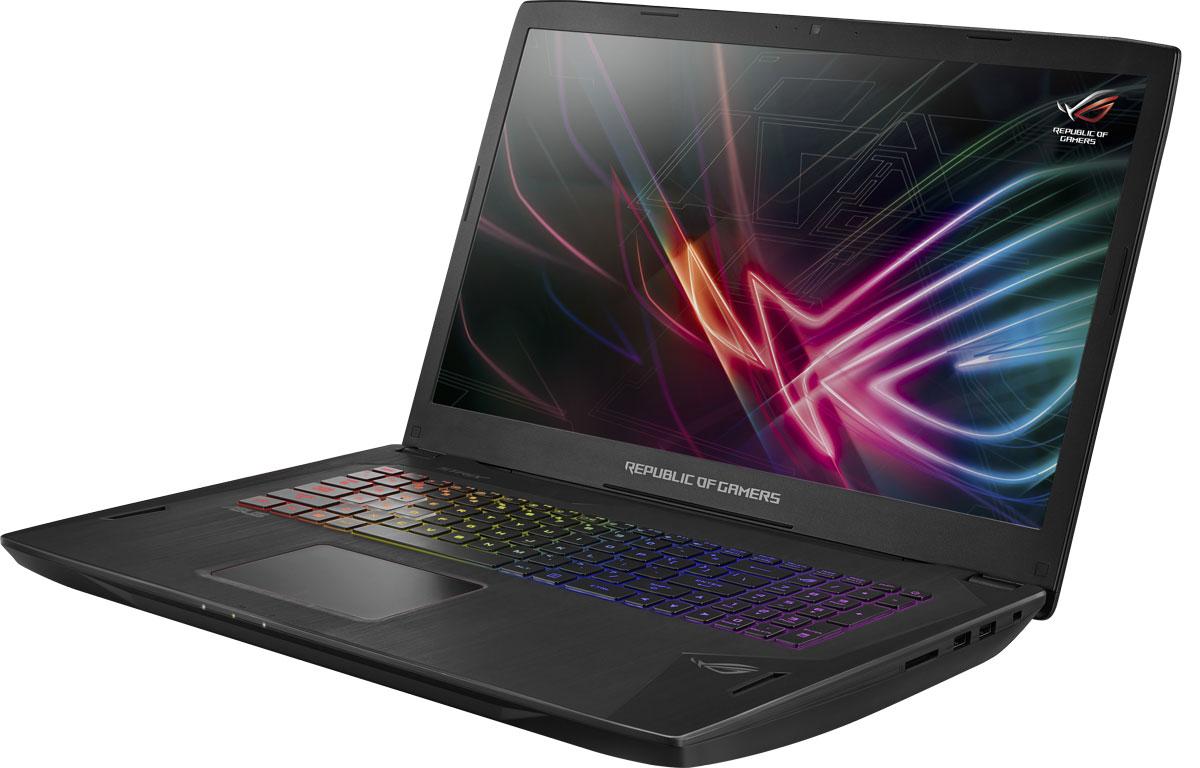 ASUS ROG GL702VI (GL702VI-BA043T)GL702VI-BA043TASUS ROG GL702VI – это геймерский ноутбук, в котором есть все, что нужно для победы в любимой компьютерной игре: мощная видеокарта NVIDIA GeForce GTX 1080, операционная система Windows 10, процессор Intel Core i7 седьмого поколения и дисплей с адаптивной синхронизацией G-Sync. Оснащенный по последнему слову техники, ROG GL702VI станет вашим надежным спутником во всех виртуальных приключениях!Четырехъядерный процессор Intel Core i7 седьмого поколения, дискретная видеокарта NVIDIA GeForce GTX 1080 с поддержкой DirectX 12 и твердотельный накопитель с интерфейсом PCIe x4 – такая мощная связка комплектующих обеспечит высокую скорость в любых играх и профессиональных приложениях!Клавиатура ноутбука ROG GL702VI отличается продуманной эргономикой (ножничные переключатели с глубиной хода 1,8 мм) и оптимизацией под геймерские приложения. Например, знаменитая комбинация клавиш WASD выделена специально, чтобы ее легко можно было нащупать даже вслепую. Впрочем, для комфортной игры в темноте служит цветная светодиодная подсветка Aura с гибкой настройкой визуальных эффектов по четырем отдельным зонам.Твердотельный накопитель, которым комплектуется данный ноутбук, подключен по шине PCIe 3.0 x4 и поэтому обладает превосходными скоростными характеристиками – до 3000 МБ/с при чтении данных! Это в 4,3 раза быстрее по сравнению с накопителями, подключаемыми по шине PCIe x2, и в целых 35 раз быстрее по сравнению с традиционными жесткими дисками.В ноутбуке ROG GL702VI применяется оперативная память новейшего типа DDR4, которая обеспечивает повышенную скорость передачи данных и уменьшенное энергопотребление по сравнению с предыдущими типами. Ее объем составляет 32 гигабайта.В ноутбуке ROG Strix GL702VI реализована высокоэффективная система охлаждения с тепловыми трубками и двумя 12-вольтовыми вентиляторами, независимо друг от друга обслуживающими центральный и графический процессоры. Продуманное охлаждение – залог стабильной работы мобильного 