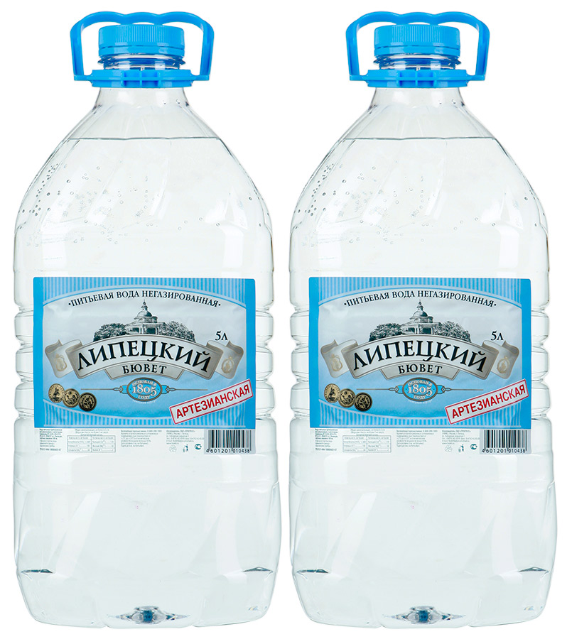 Липецкий бювет Вода питьевая артезианская негазированная, 2 шт по 5 л aqua minerale вода питьевая негазированная 6 штук по 2 л