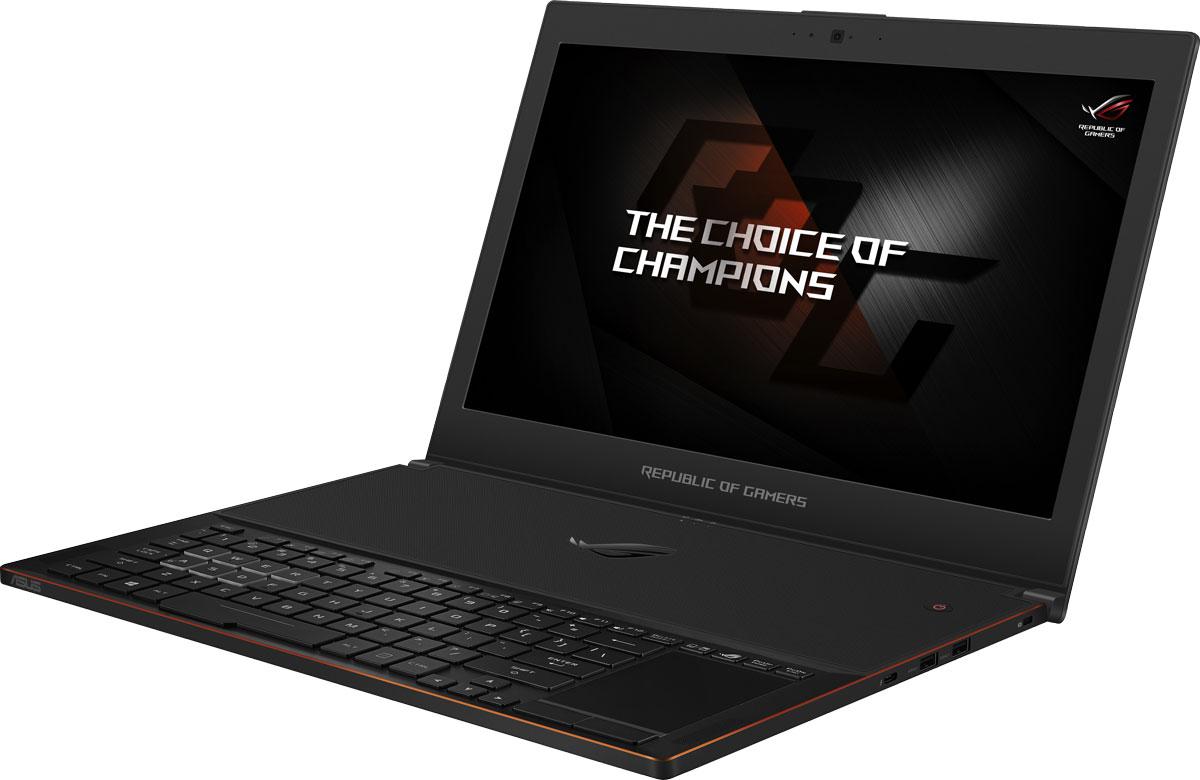 ASUS ROG Zephyrus GX501VS (GX501VS-GZ061T)GX501VS-GZ061TROG Zephyrus GX501VS – это революционный геймерский ноутбук, рожденный специалистами ROG в результате неустанных поисков совершенства. Будучи тоньше, чем любой предыдущий мобильный компьютер серии ROG, он обладает столь мощной конфигурацией, что сравним с топовыми стационарными системами. В его аппаратное обеспечение входит видеокарта NVIDIA GeForce GTX 1070 в форм-факторе Max-Q, процессор Intel Core седьмого поколения и операционная система Windows 10. Данный ноутбук представляет собой высокопроизводительную геймерскую платформу, которую можно с удобством использовать в мобильных условиях.Чтобы обеспечить стабильную работу мощных компонентов внутри столь тонкого корпуса, ноутбук ROG Zephyrus GX501VS оснащается эксклюзивной системой охлаждения Active Aerodynamic System (AAS). Когда крышка устройства поднята, часть основания корпуса изгибается, открывая щели для вентиляции. В сочетании с высокоэффективными вентиляторами, это увеличивает силу воздушных потоков на 32%, а температура компонентов понижается на 20% по сравнению с традиционными системами охлаждения. Вот почему с ноутбуком ROG Zephyrus можно играть часами напролет, не беспокоясь о перегреве.Для охлаждения элементов системы питания, а также графического и центрального процессора в ноутбуке ROG Zephyrus GX501VS применяются тепловые трубки. Такое решение способствует быстрому и эффективному отводу тепла.Клавиатура ноутбука ROG Zephyrus размещена в передней части корпуса, ближе к рукам пользователя. С одной стороны, это способствует улучшенному охлаждению внутренних компонентов устройства, а с другой – обеспечивает комфортное и привычное положение рук для тех, кто часто пользуется обычными клавиатурами для стационарных компьютеров. Среди ее достоинств можно отметить глубокий ход клавиш (1,4 мм), долговечность (20 млн нажатий) и способность корректно обрабатывать одновременное нажатие до 30 клавиш. Клавиатура оснащена подсветкой с гибкой настройкой цвета и 