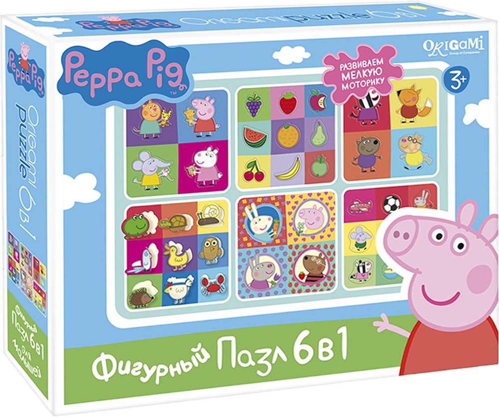 Peppa Pig Пазл для малышей Герои и предметы 6 в 1 peppa pig пазл супер макси 24a контурный магниты подставки семья кроликов