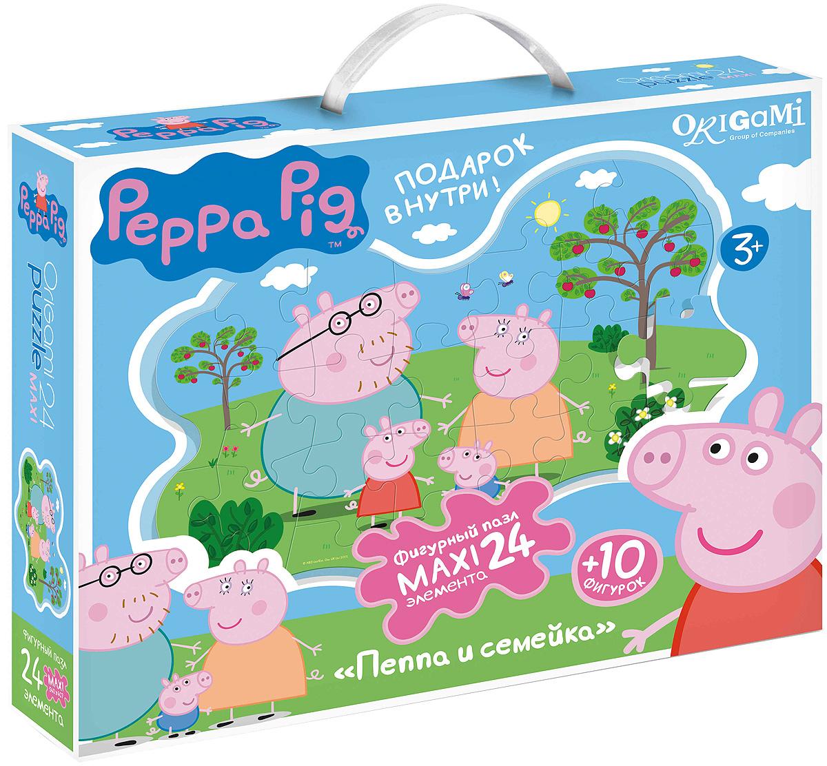 Peppa Pig Пазл для малышей Пеппа и семейка пазлы origami peppa pig пазл 24 элемента