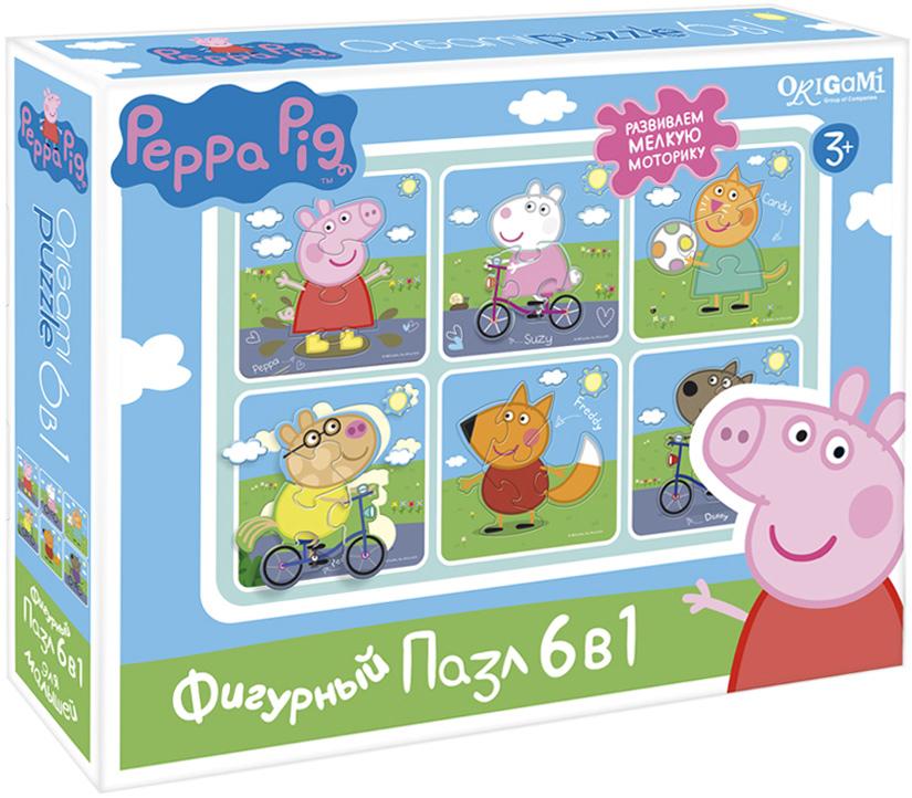 Peppa Pig Пазл для малышей На прогулке 6 в 1 пазлы origami peppa pig пазл 24 элемента