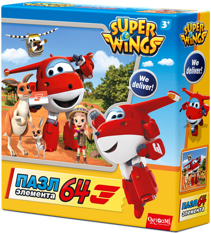 Super Wings Пазл для малышей Спасатели в Австралии