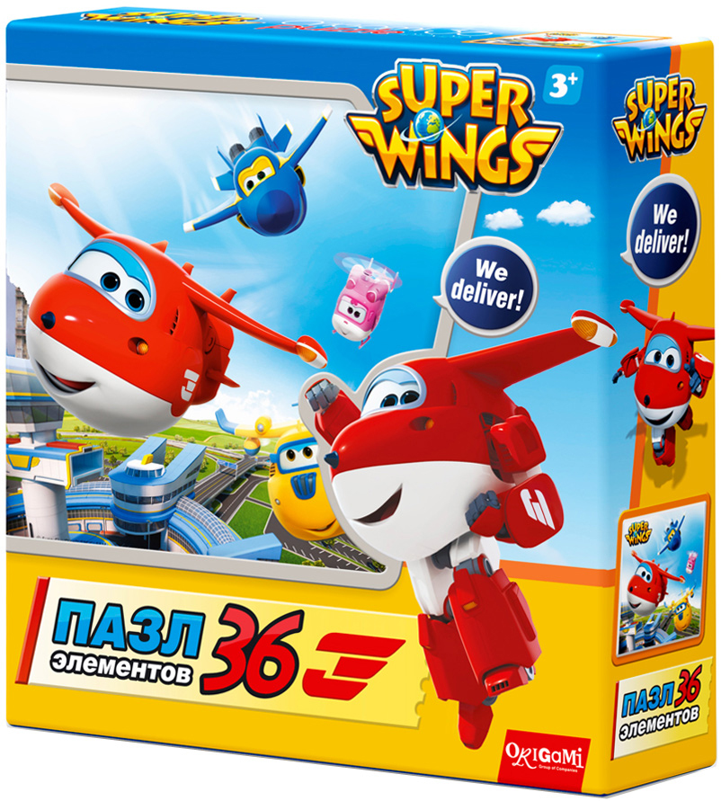 Super Wings Пазл для малышей Взлет